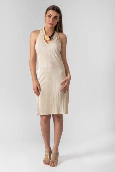 שמלת ערב צמודה דגם קאפקייקס ניוד