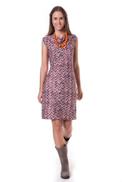 שמלה ללא שרוולים-דגם ישיר בריק