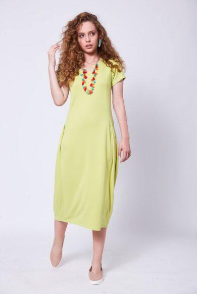 שמלה בגיזרת בלון דגם פילוסופית-ליים