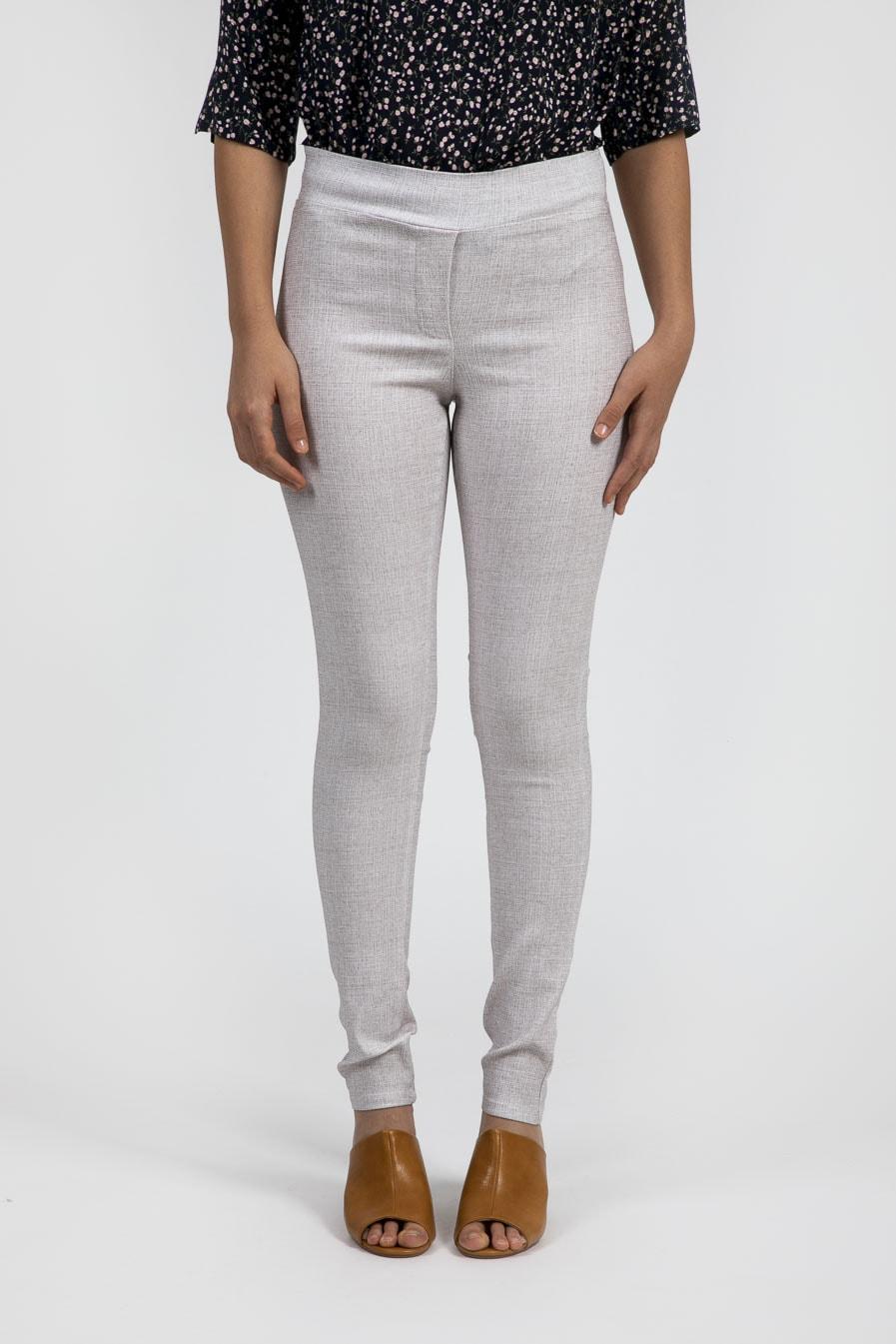 מכנסיים בהירים בגיזרת סקיני