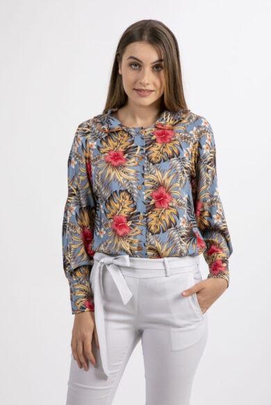חולצה עם צווארון בייבי-דגם שושן תכלת