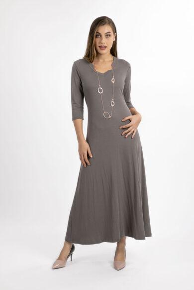שמלת מקסי אפורה-דגם מור