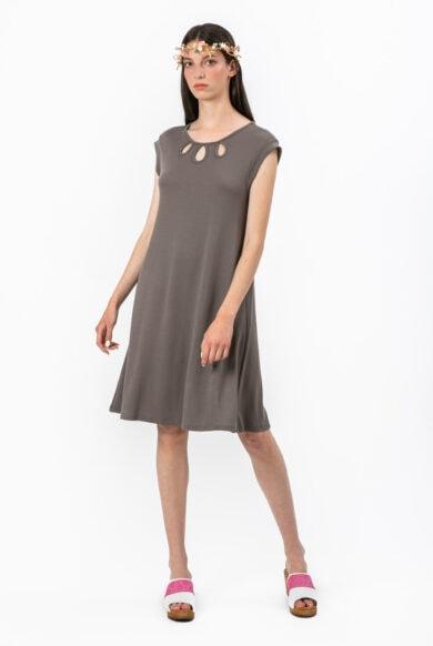 שמלת לרוס בגוון אפור